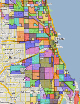 Chicago Neighborhoods Google Map on